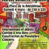 """Intervention de Pyo de Nuit Debout Nantes lors de la journée """"solidarité logement"""" le samedi 4 mars"""
