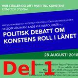 Politisk debatt om konstens roll i länet, del 1