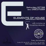 Elements of House 10.20.18 show by Househeadspeakz on SugarShackRadio