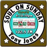 Soul On Sunday 01/04/18, Tony Jones, MônFM Radio * Mr.M's  W I G A N * C A S I N O * N.Soul & Motown