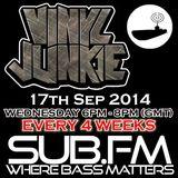Vinyl Junkie - The Bass 'n' Beats Show on Sub.FM - 17/09/2014