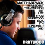 Matt Hardwick LIVE from Driftwood Ibiza, 9th September 2013