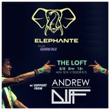 Andrew DIFF @ THE LOFT Skyway Theatre - 8/08 w/ Elephante & Gianni Blu