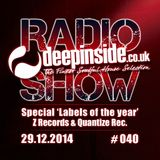DEEPINSIDE RADIO SHOW 040 Special 'Labels of the year 2014'