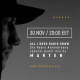 All I Need Radio Show - MARTEN (BG)