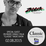 ▶ ZAGGIA ◀ RADIO CANALE ITALIA - CLASSIC Radio Show - 02.08.15 FREE DOWNLOAD