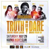 Truth Or Dare x Karma Night Club Birmingham Promo 29th July 2017