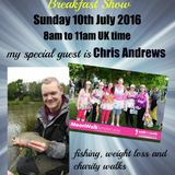 Breakfast Show with Russ Evans Sunday 10th July 2016