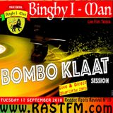 the BOMBO KLAAT session with Binghy i-man pon de control live Rastfm.com radio show