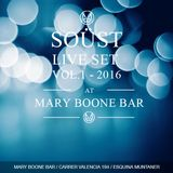 Soüst at Mary Boone Bar in January 2016