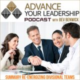 Summary Re-energizing Divisional Teams