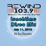 Rewind 1039 Lunchtime Disco mix 07/11/2018