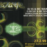 DJ SS (Formation Records) + MC Warren Gee @ FUTURE, Session, Walldorf (27.02.1999)