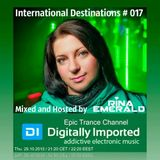 Muhib Khan - International Destinations #017 mixed and hosted by Rina Emerald (October 2015 Edition)