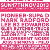 WAREHOUSE LIVES 17th NOV 2013 12HR SPECIAL from 2PM-2AM @402 402 CREMER ST E2 8HD MIXED BY DJ MILO