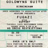 Fugazi - Birmingham Goldwyns - 18 - 9 - 1990