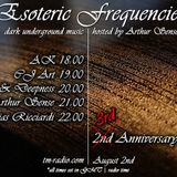 CJ Art - Esoteric Frequencies 3rd Anniversary (August 2014) on TM-Radio