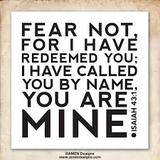 """Fear Not...You Are Mine"" Sun. 10-19-14 AM sermon by David Hankins"