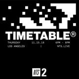 Timetable w/ D Tiberio - 15th November 2018