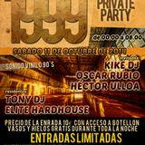 Elite Hardhouse, Oscar Rubio, Tony Dj, Hector Ulloa, Kike Dj @ 1999, Fiesta Secreta  (1ª Hora)