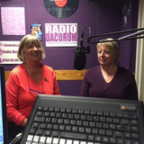 Grethe and Catharine from the Aeolian and Hemel Hempstead Singers with Radio Dacorum's Sarah Lowther