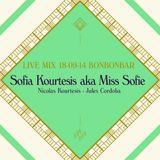 LIVE MIX 18-09-14 BONBONBAR Sofia Kourtesis aka Miss Sofie Guests: Nicolas Kourtesis Julez Cordoba