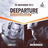 Deeparture Radio Show - Guest mix Curtiss 26.11.2015