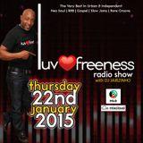 LUVFREENESS RADIOSHOW 22-01-15