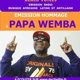 emission de Black Voices HOMMAGE  à PAPA WEMBA  sur RADIO DECIBEL dans le LOT MAI 2016