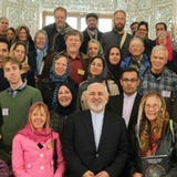Iranian Foreign Minister Zarif speaks to a United States peace delegation on Feb. 25 2019 in Tehran