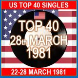 US TOP 40  28TH MARCH 1981
