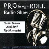 Prog & Roll's Top-10 song list for the radio season 2016-2017