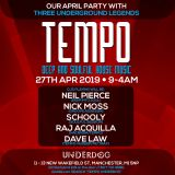 "Dave Law ""Tempo"" Underdog Manchester (27th April 2019)."