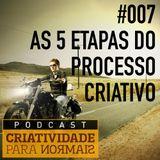 007 - Conheça as 5 etapas do processo criativo