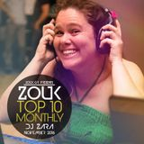 November 2016,  Brazilian  Zouk Top 10 Mix, DJ Zara