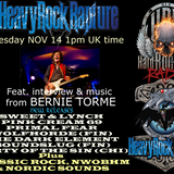 Hard Rock Hell Radio - Heavy Rock Rapture - Nov 14 feat. Bernie Torme interview & music