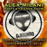 DJ Mongo's Set on the Alex Milani Party & Friends Show on Radio Kaos Caribou 2014-09-17