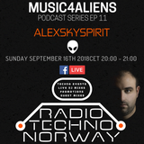 RTN Techno Special. Music4aliens Podcast Series EP 11 //Alexskyspirit//