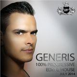 DJ GeneriS - 100% Progressive EDM House Music 128-130 BPM (July Part 1)