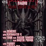 Drum Unit Warmup Show - Fright Night Radio - Tron b2b Raggo Ranger b2b Martin Poison - Friday 13th