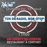 Dimanche 18 août 2013 - 11h - défi des 72h00 de radio non-Stop