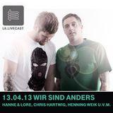 13.04.2013 Wir sind Anders - Hanne & Lore , Chris Hartwig, Henning Weik u.v.m. I