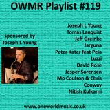 Playlist #119 Sponsored by Joseph L Young