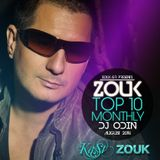 August 2014, Brazilian Zouk Top 10, DJ Odin Le Noble.