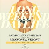 Manzone & Strong - Cabana Pool Bar Z1035 Live To Air (August 4/2014)