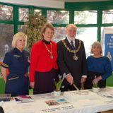 Wirral Mayor Cllr Geoffrey Watt & Nursing Director Gaynor Westray on Clatterbridge League of Friends