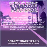 SNAZZY TRAXX YEAR 5 MIX BY DJ STEVIE B (FULL 2 HOUR STUDIO RECORDING)