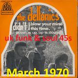 MARCH 1970: Funk & soul UK 45s