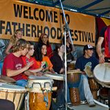 Fatherhood festival in Bangalow mini vox dock by Oliver McElligott for Bay FM Byron Bay