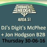 Blissfields 2016 - Area 51 stage, Hidden Hedge: DJ's Digit's McPhee & Jon Hodgson B2B